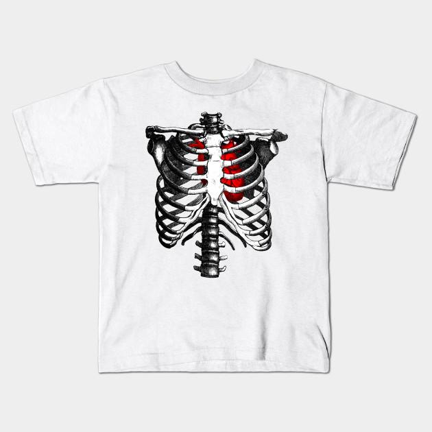 f39cf7a7 Ribcage Skeleton Red Heart Anatomy - Skeleton Rib Cage - Kids T ...