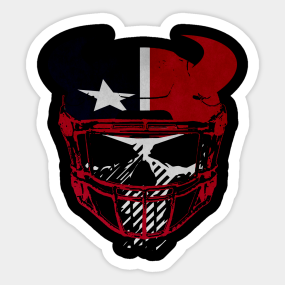 Texan Punisher Ghost Recon The Houston NFL Mash Up Sticker