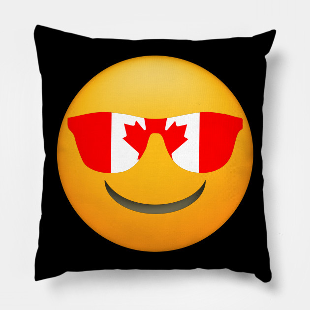 Emoji Cuscini.Cool Emoji Canada Flag Sunglasses Funny Canadian Design Canadian