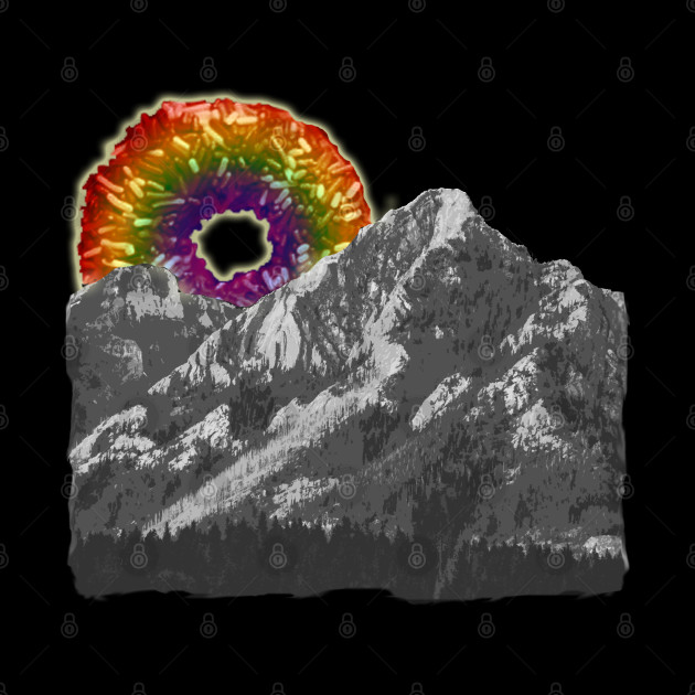 rainbow donut mountain