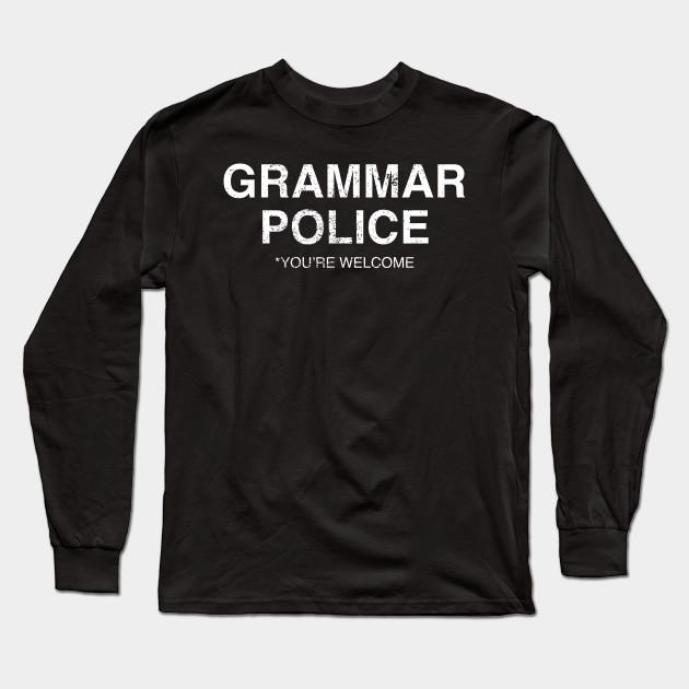 Grammar Police Funny English Language Kids T-Shirt