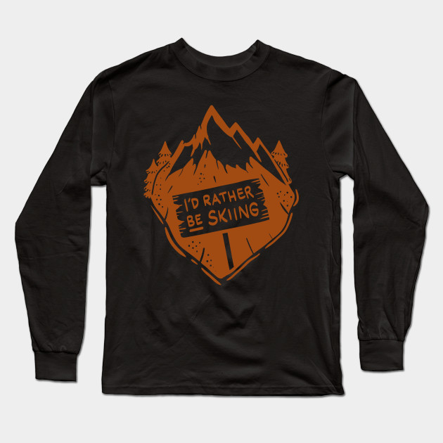 cbe47a10a8 Funny Skiing Ski Shirts and Gifts - Snowshoe - Long Sleeve T-Shirt ...