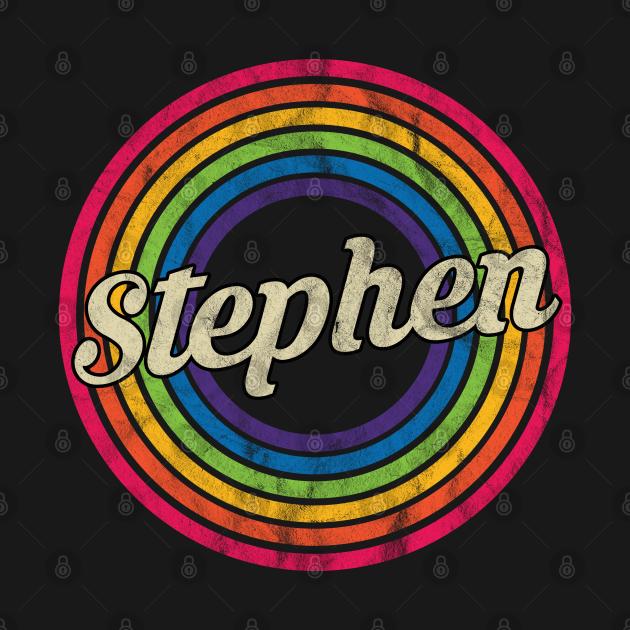 Stephen - Retro Rainbow Faded-Style
