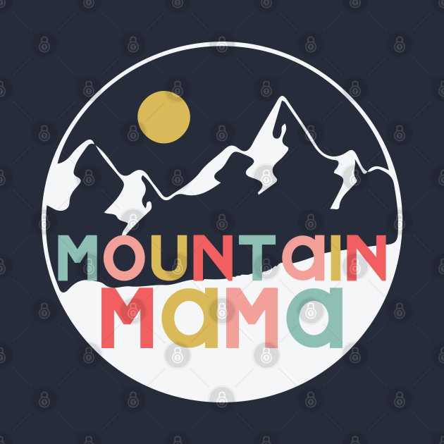 Mountain Mama In Retro Color