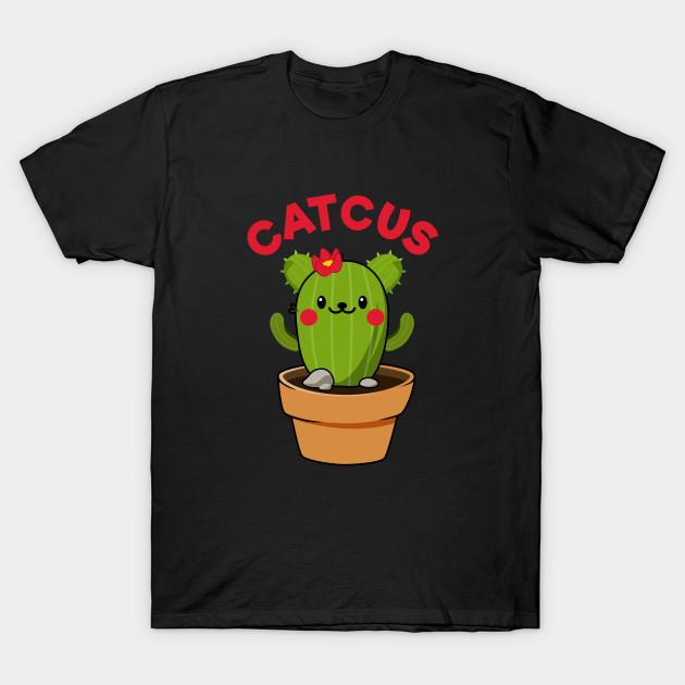 14559cbc Cactus Catcus Funny Cat - Catcus Cactus - T-Shirt | TeePublic