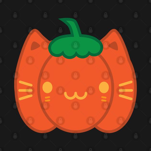 Kawaii Halloween Pumpkin Cat