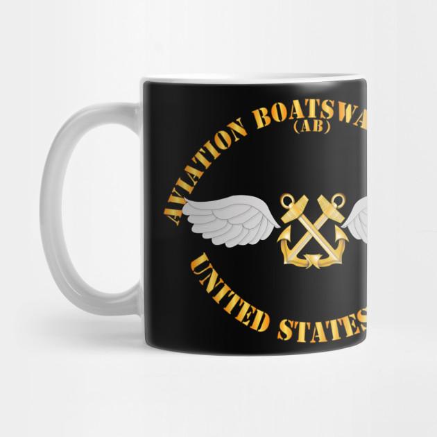 FREE NAME//RATING INCLUDED AB AVIATION BOATSWAIN/'S MATE NAVY  11 oz Coffee Mug