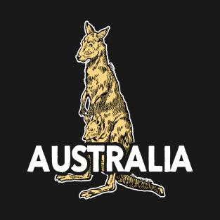 Australian Kangaroo - Nature Illustration t-shirts