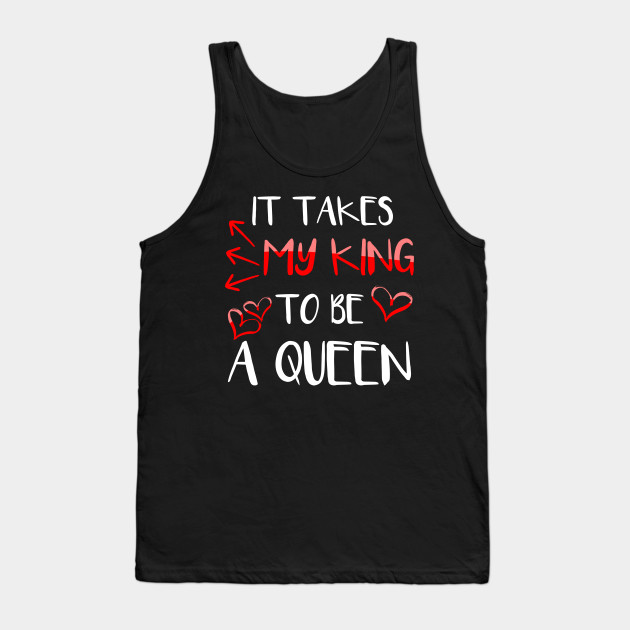 b51cd4df1ee7e King and Queen Couple Shirt for Her - Valentines Day - Tank Top ...