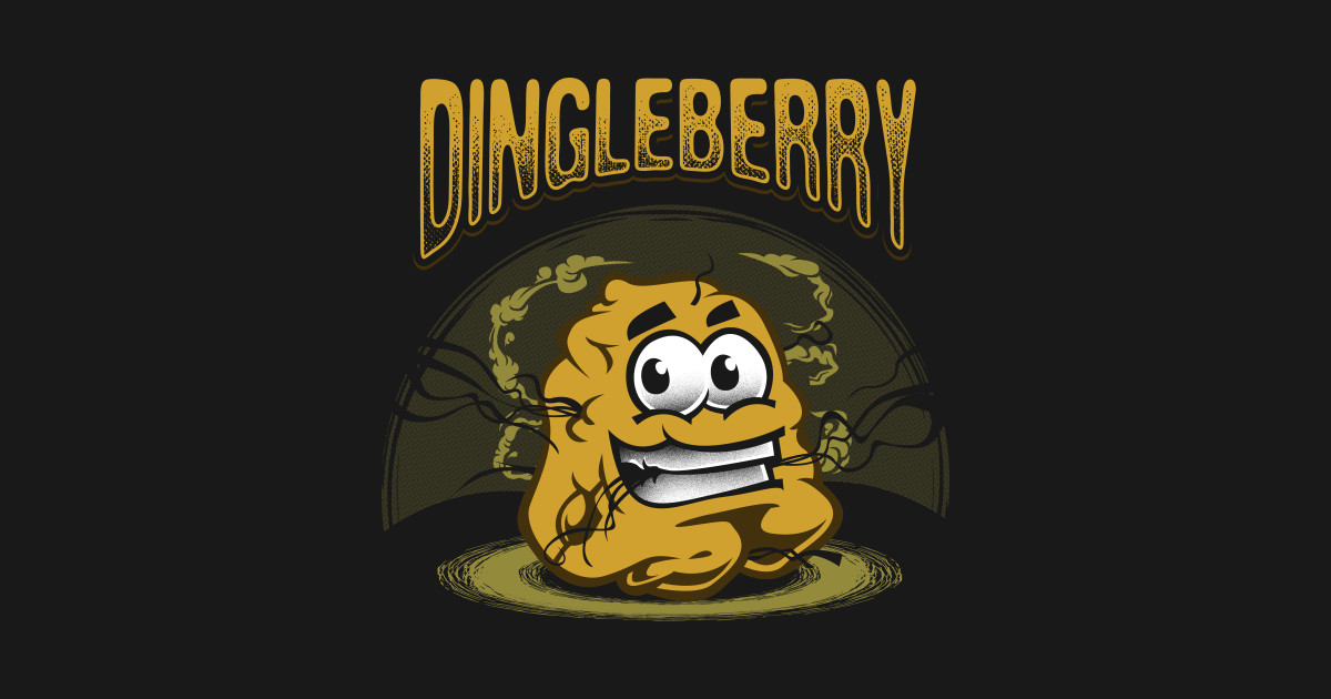 funny dingleberry smiley graphic - dingleberry