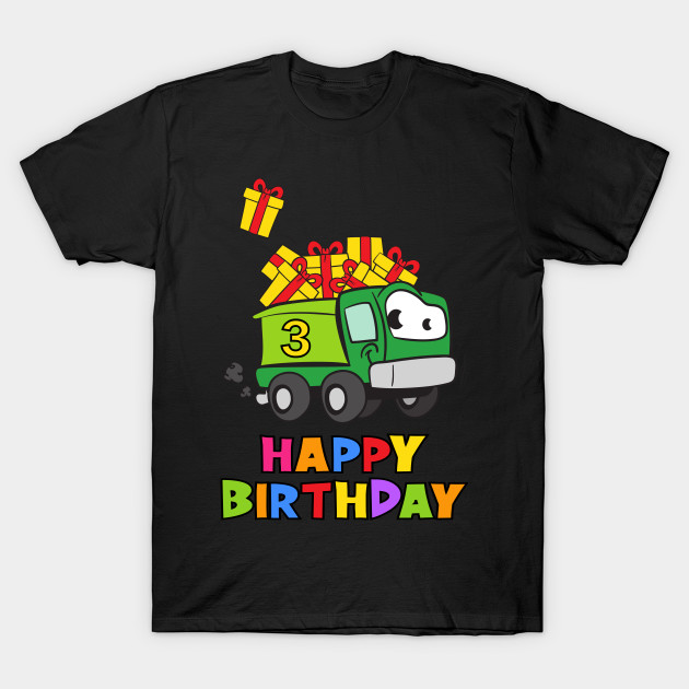 3rd Birthday Party 3 Year Old Three Years T Shirt