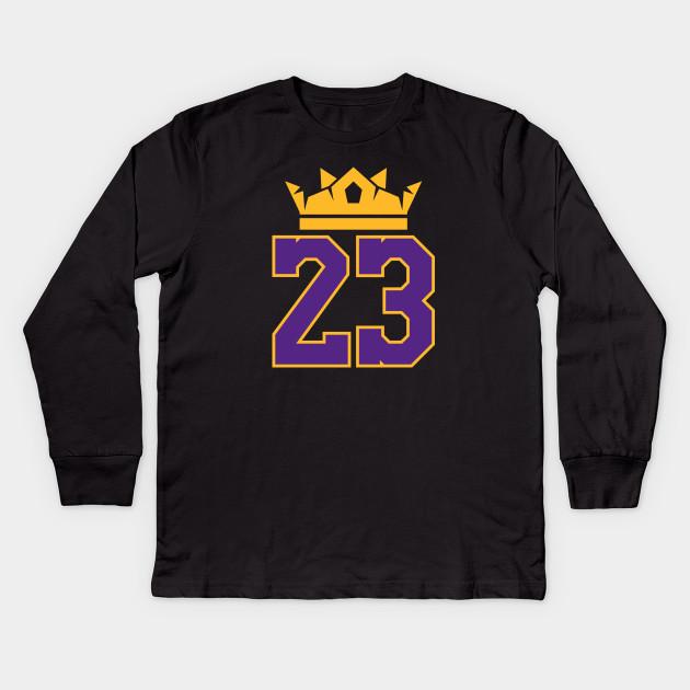e1ec50c5d1f7 King James Lakers 23 - Lebron James - Kids Long Sleeve T-Shirt ...
