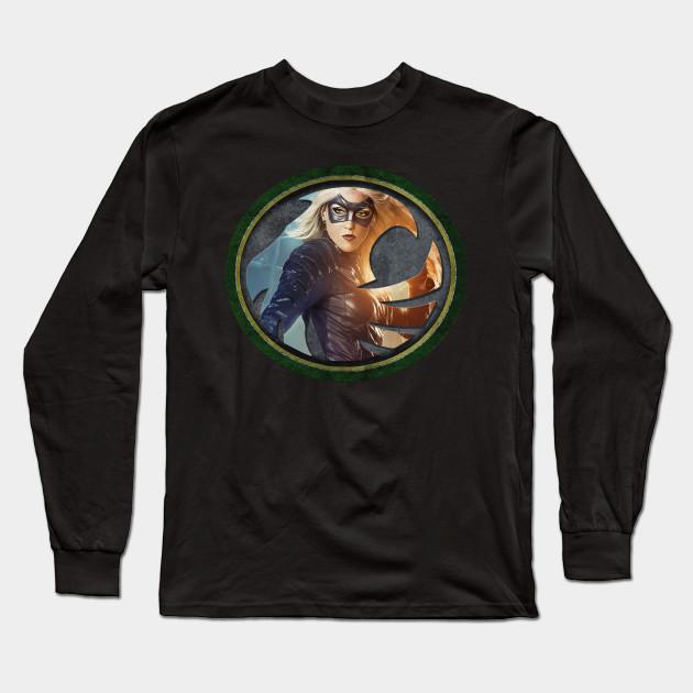 Black Canary Symbol Black Canary Long Sleeve T Shirt Teepublic