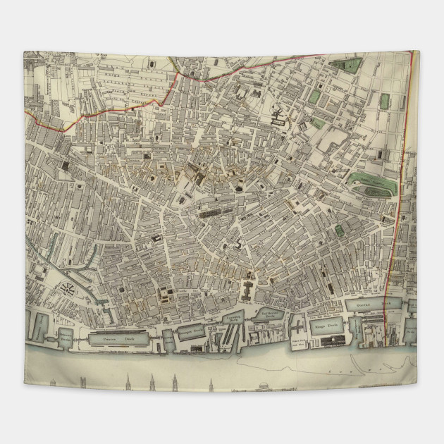 Vintage Map of Liverpool England (1836) - Liverpool Map - Tapestry ...