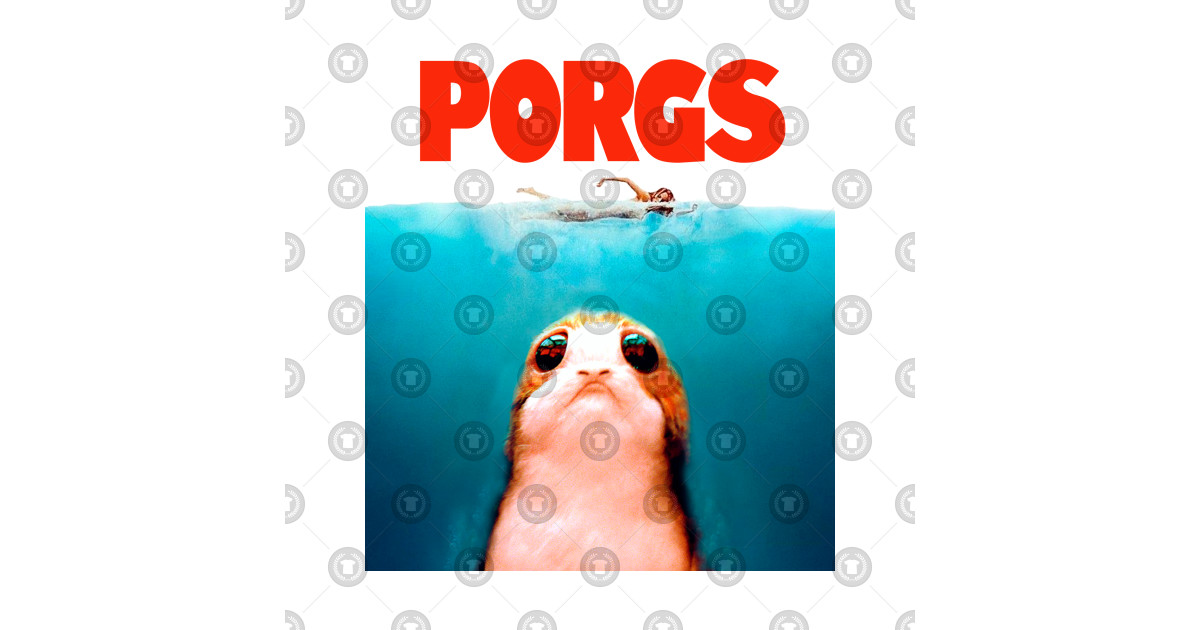 Porgs / Jaws Mash Up - Star Wars Mashup - T-Shirt