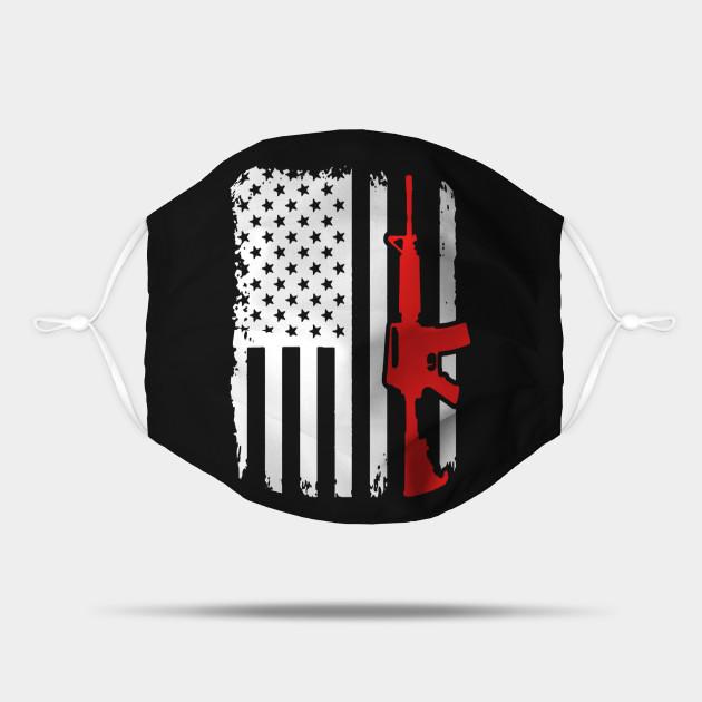 Rifle Ar 15 Usa Flag