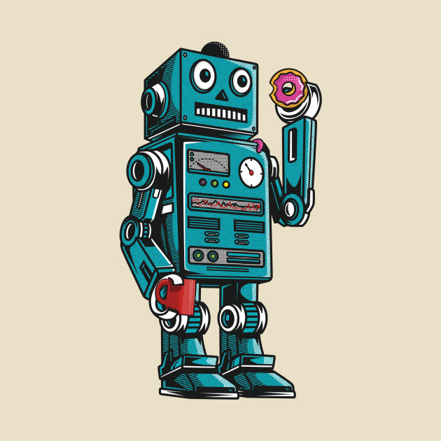 Robot Mornings With Coffee And A Donut
