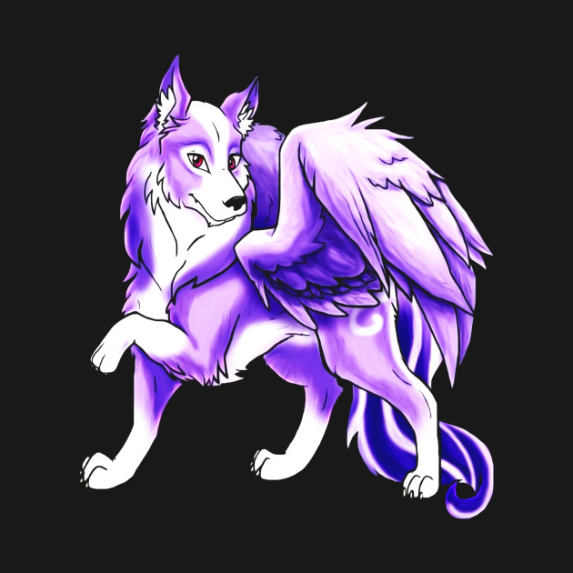 Cute Purple Winged Wolf T Shirt