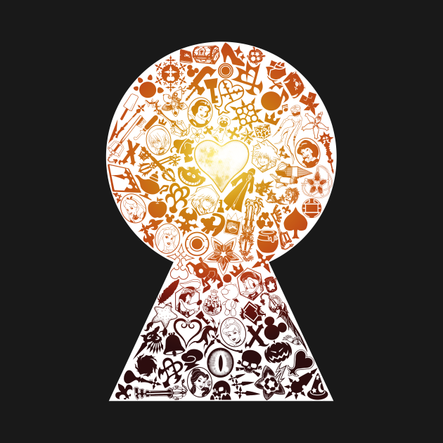 Kingdom Keyhole (orange-red)