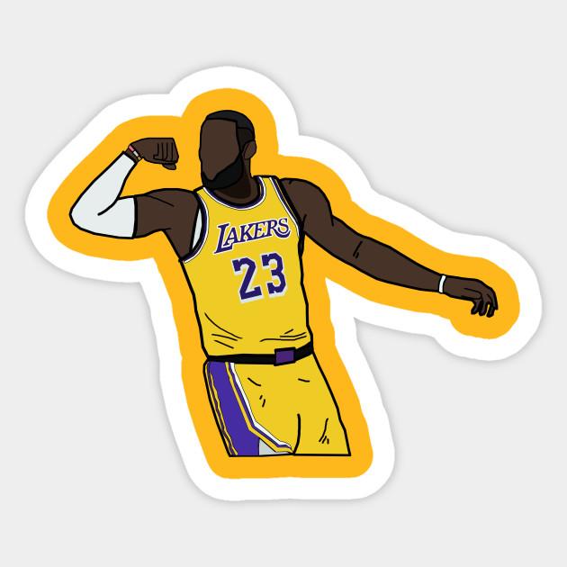 a basso costo bene fuori x gamma esclusiva Lebron James Flex Celebration - Los Angeles Lakers - Nba - Adesivo ...