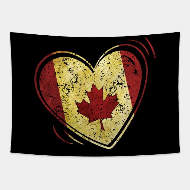 Love Heart Canadian Maple Leaf, Canada Flag