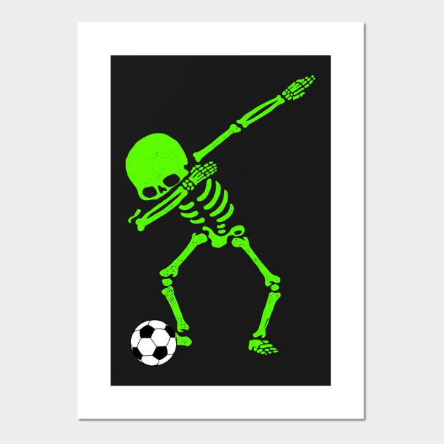 4f2bc422 Halloween Dabbing Skeleton Soccer Ball T-Shirt Skeleton Dab ...