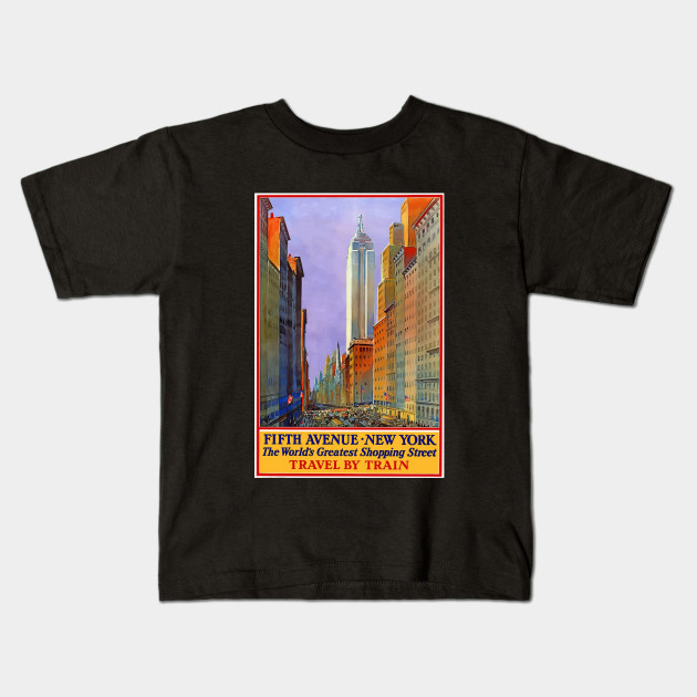 034db0ab880bac Vintage New York Travel Promo  Fifth Avenue - Fifth Avenue - Kids T ...
