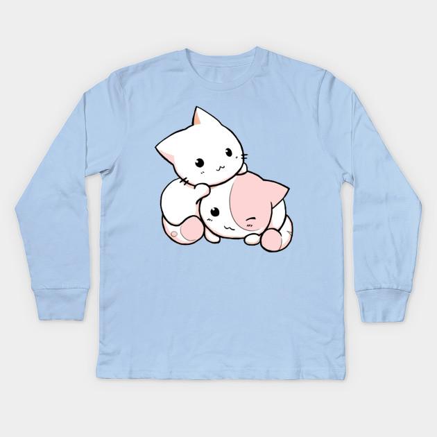 Chibi Kawaii Cats Cat Kids Long Sleeve T Shirt Teepublic