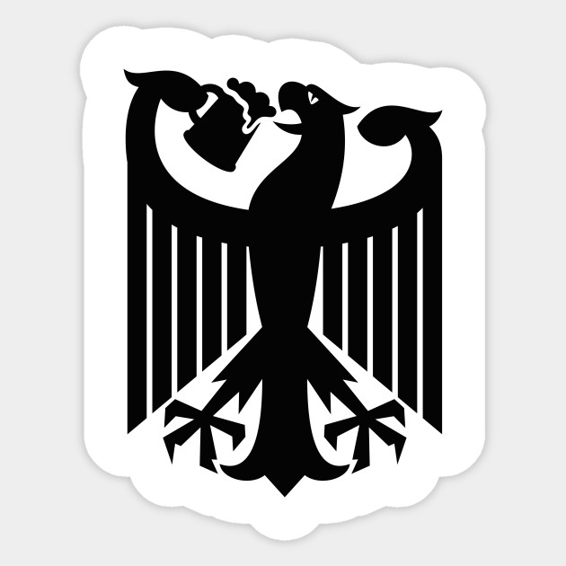 Germany Coat Of Arms Eagle Beer Germany Soccer Sticker Teepublic