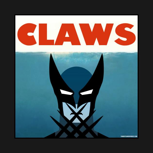 "Wolverine Jaws Parody ""Claws"" Movie Poster"