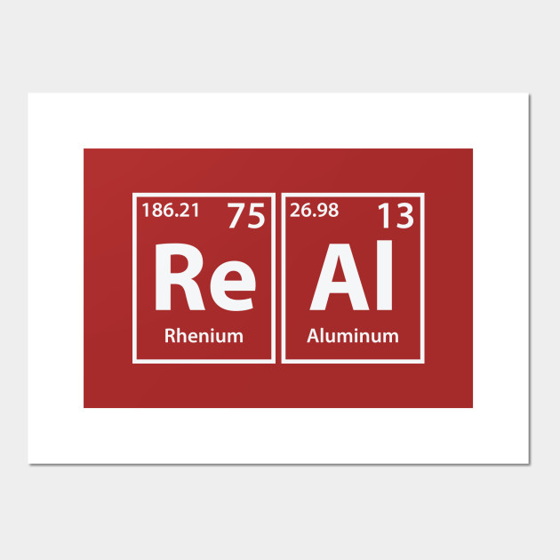 Real (Re-Al) Periodic Elements Spelling