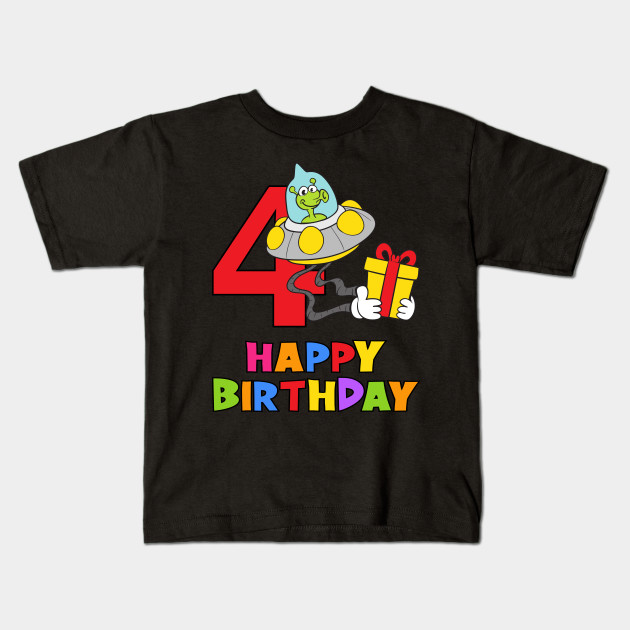4th Birthday Party 4 Year Old Four Years Kids T Shirt