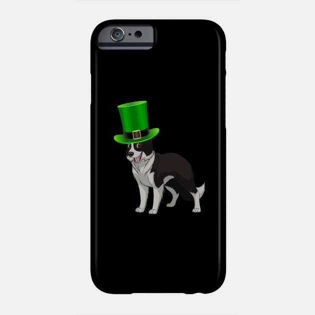 Border Collie St Patrick's Day Irish Leprechaun Dog Hat - Gift For Border Collie Owner Puppy,Saint Patrick's Day, Irish,Ireland ,Leprechaun,Hat, Lover Phone Case