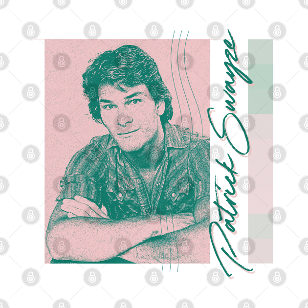 Patrick Swayze / / / 80s Aesthetic Fan Art Design