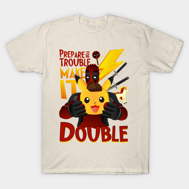 d12931177 Detective Deadpool - Pikachu - Pokemon - T-Shirt | TeePublic