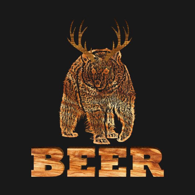 a073b280f Funny Bear + Deer = Beer Tshirt - Funny - T-Shirt | TeePublic
