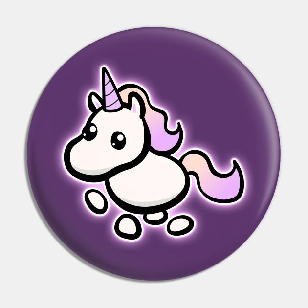Adopt Me Neon Unicorn Adopt Me Unicorn Pin Teepublic