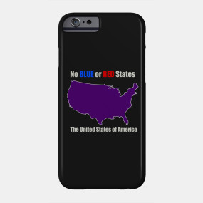 electoral map united states unity red and blue states make purple cases stickers