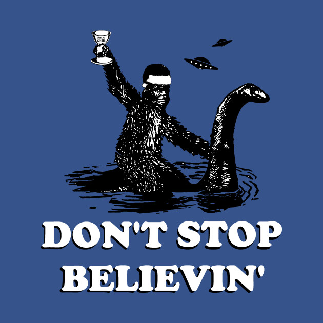 8754ed767 DON'T STOP BELIEVIN - Dont Stop Believing - T-Shirt | TeePublic