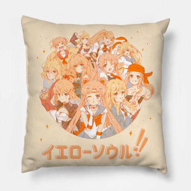 Cuscini Anime.Yellow Soul Anime And Manga Cuscino Teepublic It