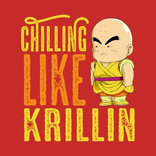 Chilling Krillin t-shirts