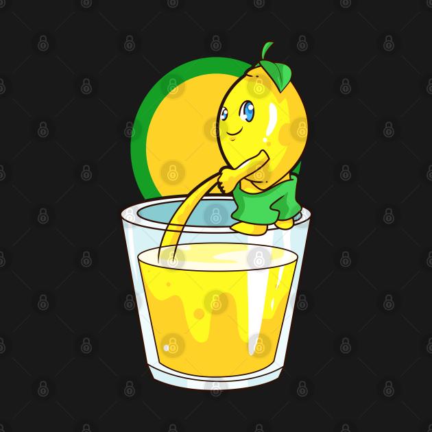 Kawaii Lemon Naughty Lemonade Pun Funny Gift