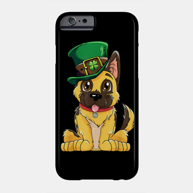 German Shepherd Leprechaun St Patricks Day Dog Kids Phone Case