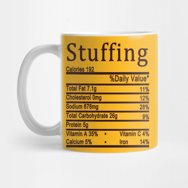 stuffing nutrition thanksgiving Mug