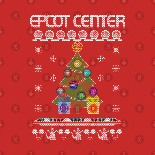 Ugly Disney Christmas Sweater - Epcot Center