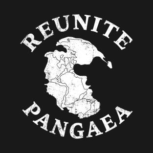 REUNITE PANGAEA Pangea Map Funny Peace Protest t-shirts