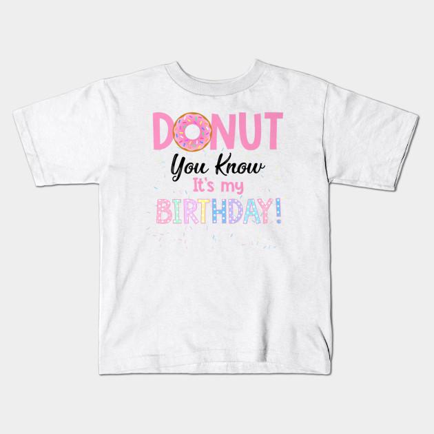 Donut Funny 1st Birthday Shirt Kids T
