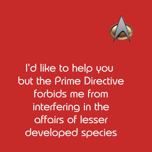Rude Star Trek Prime Directive Shirt