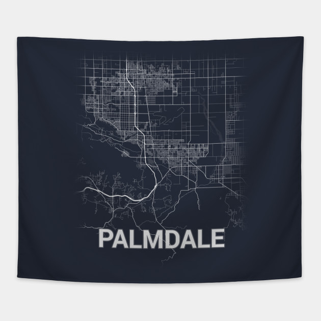 Palmdale US California City Map