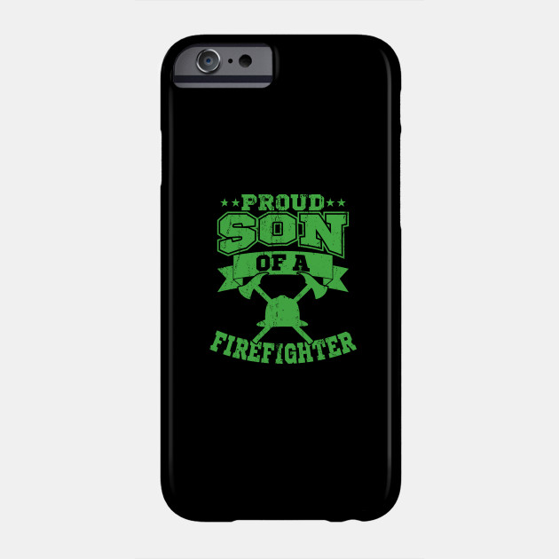 Proud Son Fathers Day Firefighter Gift Phone Case